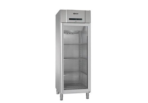 Gram Professionelle Kühlschrank Glastür Edelstahl   583 Liter