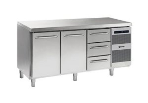 Gram Cool workbench stainless steel 2 doors and 3 drawers 506 liters