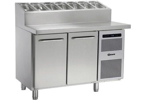 Gram Gram Stainless Steel Cooling Basin | 2 doors and 6x1 / 3 GN | 345liter