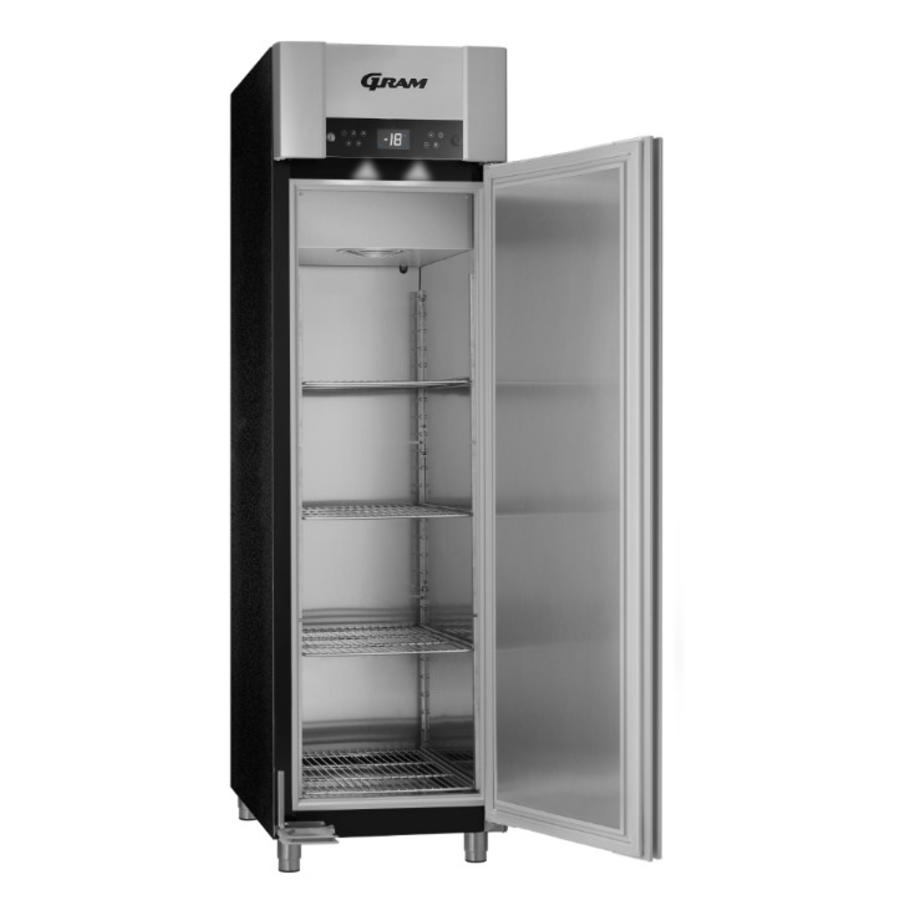 Gram stainless steel freezer euro standard black 465 liters