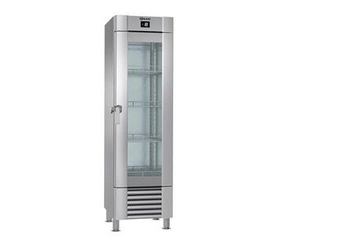 Gram Stainless Steel Gram Marine freezer glass door 407 L