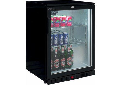 Saro 1 Door Black Bottle Refrigerator | 85 cm high