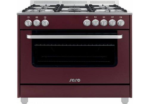 Saro Multifunctionele Kooktoestel Gas Oven | 5 Pits - Bordeaux