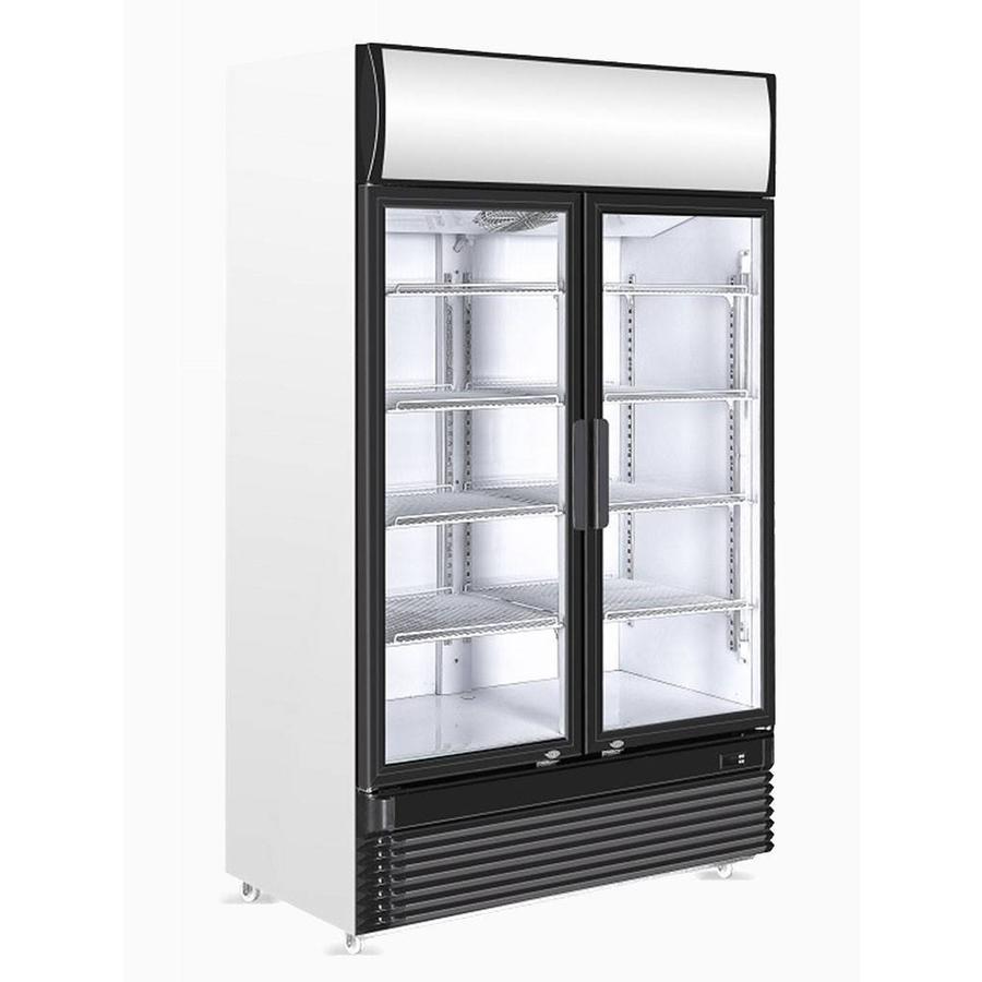 HorecaTraders Getränkekühlschrank mit Glastüren | 1120 (w) x 610 (d ...