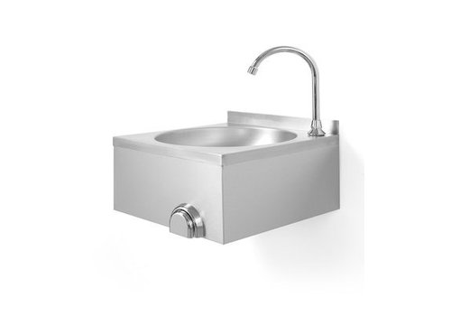 Hendi Stainless steel sink with knee control