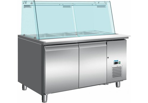 Saro Cooling Table With Glass Top