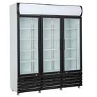 HorecaTraders Wardrobe vitrine with 3 glass doors | 160 cm