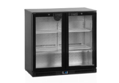 Tefcold Tefcold zwarte Backbar-koeler met glazen deuren