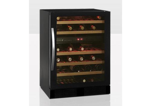 Tefcold Wijnkoeler Zwart met glazendeur TFW160-2F