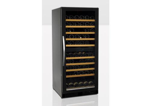 Tefcold Wijnkoeler Zwart met Glazendeur TFW265-2F