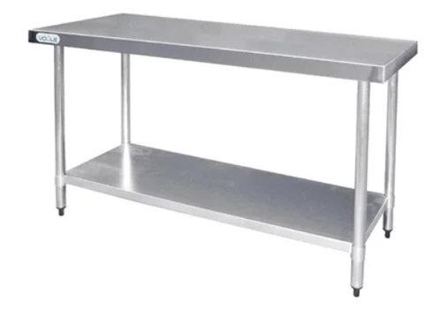 Vogue Edelstahl-Arbeitstisch mit Regal | 60 cm tief | 5 Größen