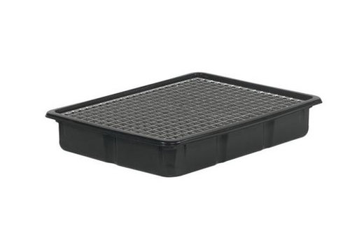 HorecaTraders Kunststoff-Tropfschale mit Gitter | 80x60x13 cm