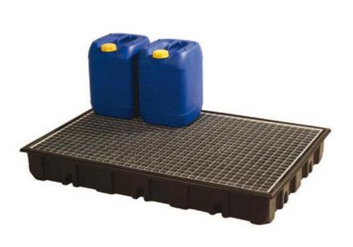 HorecaTraders Kunststoff-Tropfschale mit Gitter | 123x83x27 cm