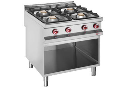 Diamond Gas cooker with 4 burners 2 x 7 kW and 2 x 11 kW