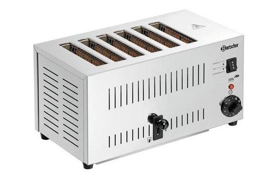 Bartscher Toaster Edelstahl | 6 Steckplätze