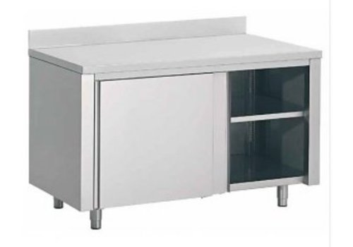 Combisteel Drawer cabinet with splashboard stainless steel | 180x70x85cm