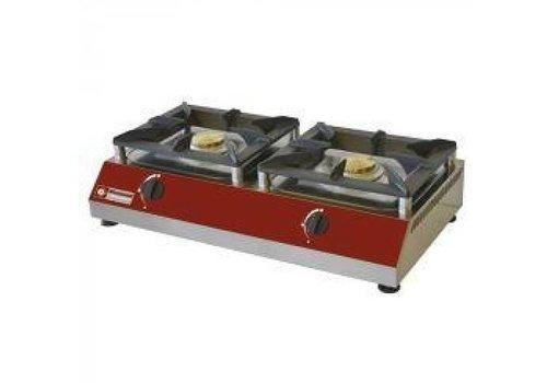 Diamond Gas stove 2 burners 5kw 760x400x (h) 200mm