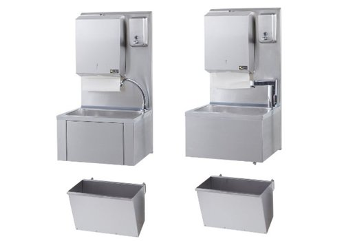 Sofinor Catering hand sink + paper and soap dispenser | Stainless steel