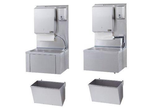 Sofinor Horeca hand wasbak + papier en zeep dispenser | RVS