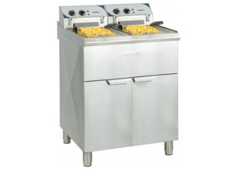 Casselin Elektrische friteuse |2x 10 liter | RVS