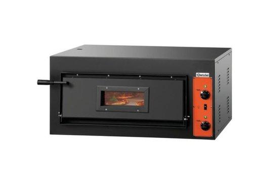 Bartscher Pizzaoven Blikstaal 4200 Watt | 4 Pizza's