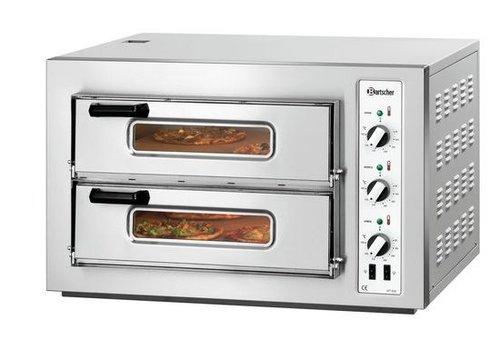 Bartscher Pizza oven 2 rooms 6000 Watt 8 Pizzas