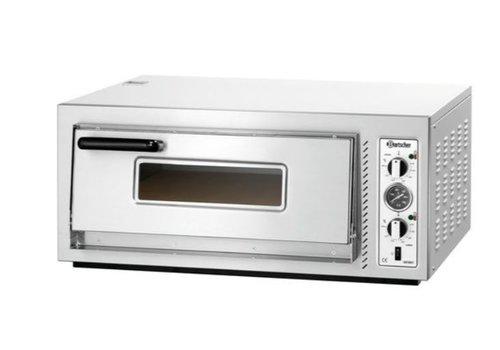 Bartscher Blikstaal Pizzaoven 5000 Watt | 4 Pizza's