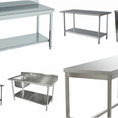 Möbel aus rostfreiem Stahl