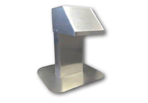 HorecaTraders Aluminium dakdoorvoer | brede doorgang