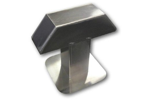 HorecaTraders Aluminium Dachdurchführung | 2 Ausgängen