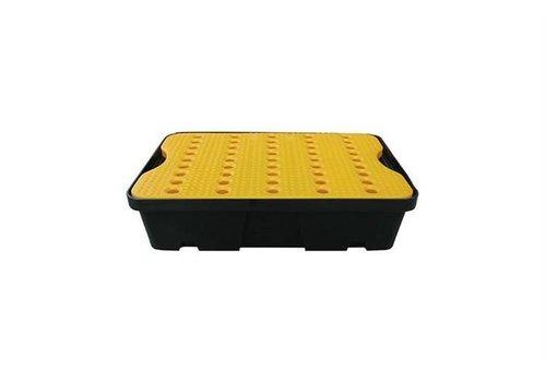 HorecaTraders Lekbak 600x400 mm - 20L - Inclusief geel rooster