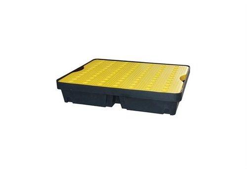 HorecaTraders Tropfschale 800x600 mm - 40L - Enthält gelbes Gitter