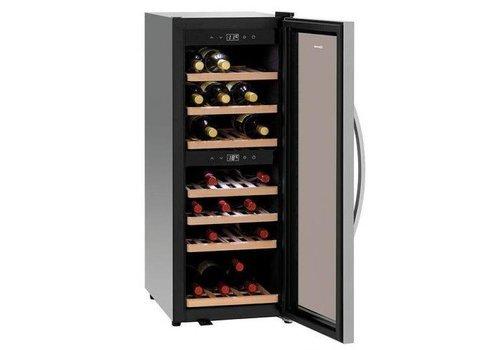Bartscher Wein Kühlschrank | 113 Liter | Zone 2 | Silent-Kompressor | 580x396x1030 (h) mm