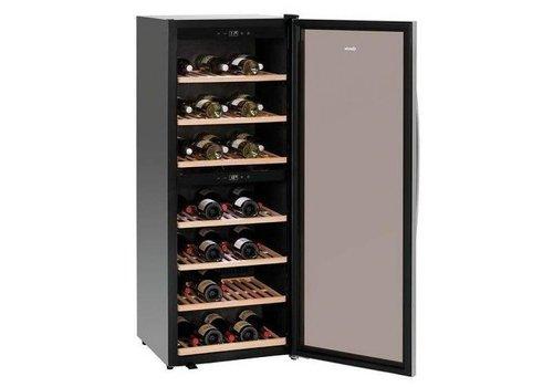 Bartscher Wein Kühlschrank Schwarz | Silent-Modell | 2 Temperaturzonen | 595x625x1590 (h) mm