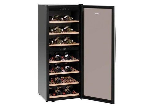 Bartscher Wine Fridge Black Silent Model | 2 Temperature zones 595x625x1590 (h) mm