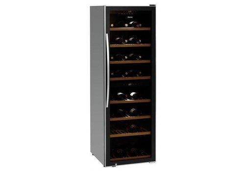 Bartscher Wijnkoelkast Zwart | Geluidloos Model | 2 Temperatuurzones | 600x750x1860(h)mm