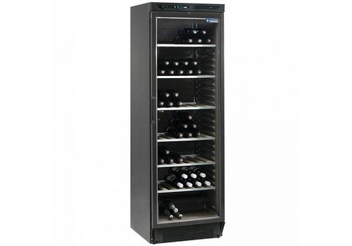 Diamond Wine fridge 380 liters - Glass door - Black - 595x595x (h) 1940mm