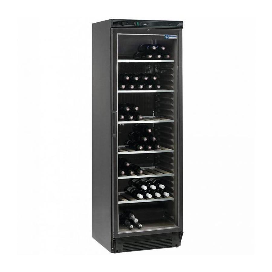 Diamond Wine Fridge 380 Liters Glass Door Black 595x595x H 1940mm