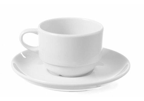 Hendi Delta Kaffeetasse Untertasse (6 Stück)