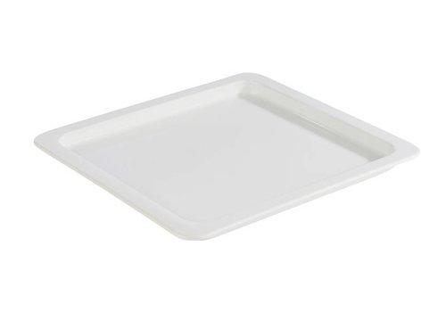 HorecaTraders Gastronorm- weiße Porzellanschalen | 5 Größen