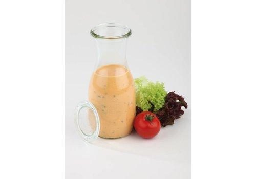 HorecaTraders Weck-Glasflaschen mit Deckel 00.50 L | 6 Stück