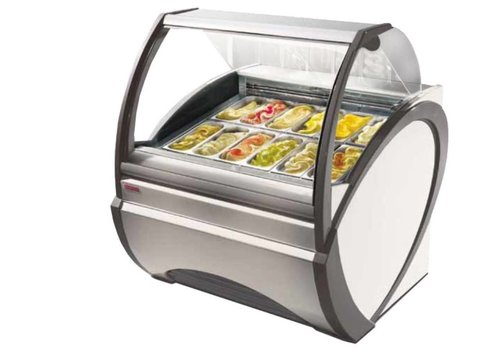 Oscartielle Scoop Eis-Display mit Umluft | 1790W | weiß