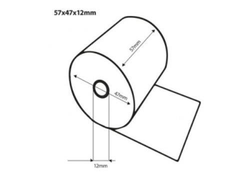 HorecaTraders Thermische bonrollen   57x47x12 mm   50 stuks