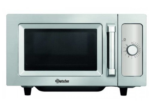 Bartscher Stainless steel microwave with dial