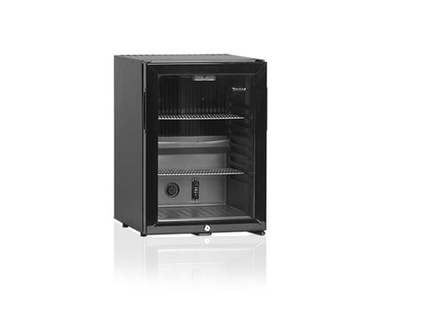Diamond Little Black Glass Door Refrigerator with 42 Liter