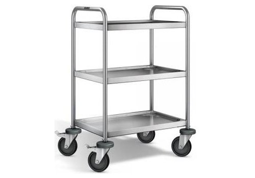 Blanco Stainless steel serving trolley 3 plateaus 70x50x95 cm