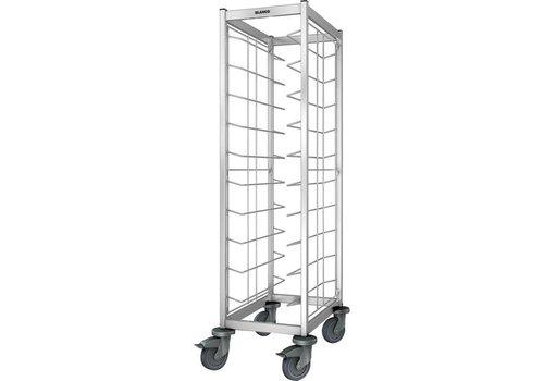 Blanco Stainless steel tray trolley 10 trays 54x63.5x167.8 cm