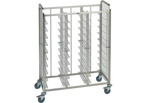 Blanco Stainless steel tray trolley 30 trays 134.5x63.5x167.8 cm