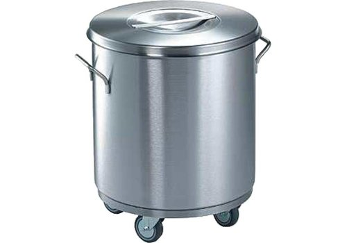 Blanco Stainless steel waste container | Ø 43x49.5 cm