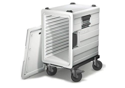 Blanco Kunststof voedseltransportcontainer | 3 x 1/1 GN